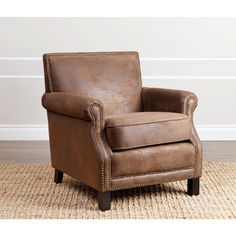 Abbyson Chloe Antique Brown Fabric Club Chair (Antique Brown) (Polyester)