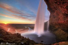 Seljalandsfoss at sunset ...  | Flickr - Photo Sharing!