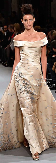 Georges Chakra Spring 2014 Couture....I like the style and shape - not a fan of this particular pattern/color