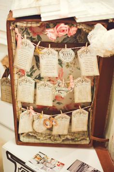 hang your table plan in a suitcase