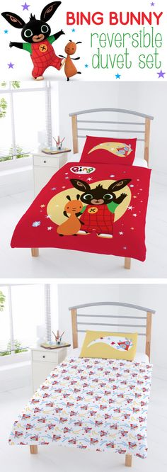 If your little one loves Bing Bunny, you must get this Bing Reversible Bedding Set!