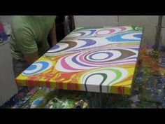 Fluid Acrylic Painting Demo, Abstract Art Painting by Brigitte König, Colorful II - YouTube