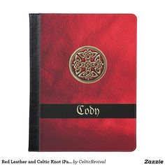 Red Leather and #Celtic Knot #iPad Case  #zazzle