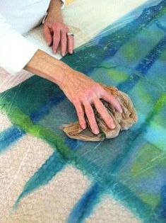 This is a brief explanation of how I created this piece. It assumes you have some knowledge of nuno felting. I have also created a video wh...
