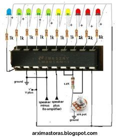 morse buzzer alarm or continuity tester by ic 4011 circuit diagram41 best sound effects images circuit projects, sound effectsthis is a simple led vu meter
