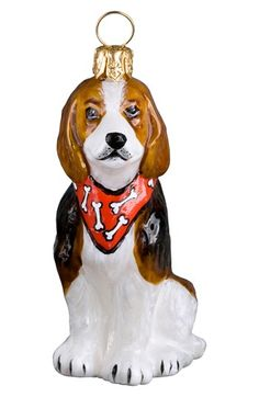 Joy to the World Collectibles 'Beagle with Bandana' Ornament available at #Nordstrom