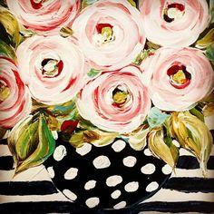 Floral painting c brooke ring colorful flower painting peonies in ginger jar pink floral art peonies in blue and white ginger jar pink and white ginger jar chinoiserie pink chinoiserie decor – Artofit Flower Canvas, Flower Art, Art Et Illustration, Illustrations, Abstract Flowers, Painting Flowers, Acrylic Flowers, Drawing Flowers, Flower Paintings