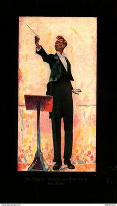 Der Dirigent (Gemälde Von Cuno Umiet) / Druck, Entnommen Aus Zeitschrift /1925 - Livres, BD, Revues