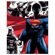 Batman v Superman Standoff found on Polyvore