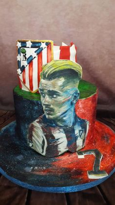 Soccer cake by Mona Art Gateaux Football Cakes, Soccer Cake, Love French, Daily Inspiration, Little Boys, Cake Ideas, Cake Decorating, Painting, Men