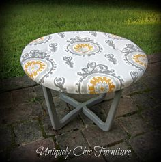Uniquely Chic Furniture: Table Turned Tufted Ottoman