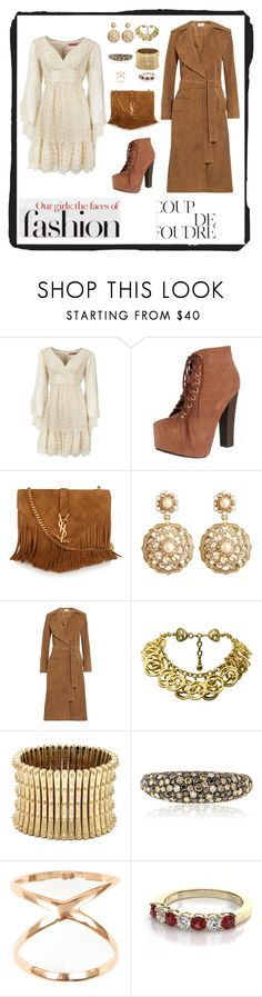 """""""Untitled #6647"""" by junglequeen84 ❤ liked on Polyvore featuring Betsey Johnson, Breckelle's, Yves Saint Laurent, Brooks Brothers, Frame Denim, Chanel, Sole Society, Effy Jewelry and Joolz by Martha Calvo"""