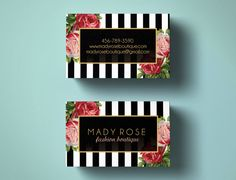 Premade business cards Floral business cards by MerryElleDesign