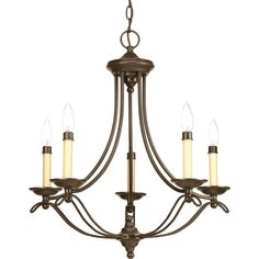 Five Light Antique Bronze Ivory Finish Candle Sleeves Glass Up Chandelier : 1NCWT | Bright Light Design Center