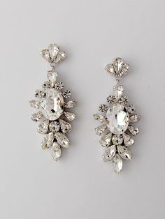Light Cream Highly Polished Fashion Jewelry Bridal/ Wedding/ Prom/ Party Rhodium Plated Clear Austrian Crystal Hair & Head Jewelry
