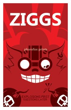 Ziggs League of Legends Print by pharafax on Etsy, $16.00