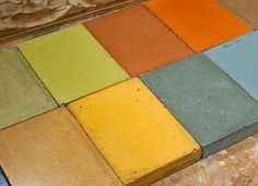 Explore more than 200 custom concrete color samples made with off the shelf pigments and mixes from CHENG Concrete, Sakrete, Surecrete, and Interstar. Cheng Concrete, Concrete Cement, Stained Concrete, Concrete Countertops, Kitchen Countertops, Concrete Planters, Polished Concrete, Concrete Blocks, Cement Stain