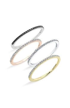 I have teeny fingers (size 4.5) and these are perfect! Pretty and delicate - Stackable Diamond Rings