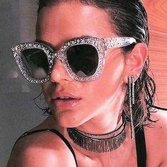 Diamond Sunglasses Italian Vintage Crystal Stylish Sunglasses 179343dcc283c