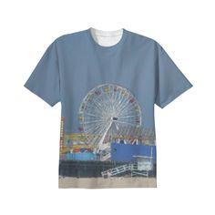 Santa Monica Tee from Print All Over Me