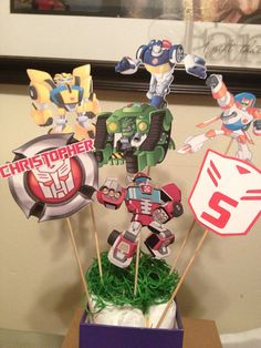 #rescuebots #party #transformers Hey, I found this really awesome Etsy listing at https://www.etsy.com/listing/177621758/rescue-bots-party-set-banner-toppers
