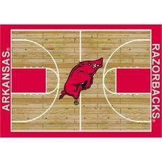 "College Court Arkansas Razorbacks Rug Size: 10' 9""x13' 2"" $718.80"