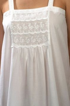 Victoria (White) cotton nightdress in traditional Victorian style - classic nightwear, beautifully made. Pretty Lingerie, Vintage Lingerie, Pijamas Women, Night Gown Dress, Cotton Nighties, Nightgown Pattern, Vintage Outfits, Vintage Nightgown, Bohemian Mode