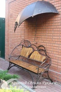 Pergola Ideas For Patio Refferal: 5063876817 Outside Furniture, Metal Furniture, Garden Furniture, Cheap Furniture, Industrial Furniture, Outside Benches, Wrought Iron Bench, Iron Art, Yard Art