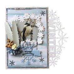 Joy!Crafts 6002/1439 Bille's flower elegant 6002/1440 Bille's rolling flower 6002/1532 Sneeuwvlok label 6011/0640 Design paper Winter landschap 6013/0340 Knipvellen Seaso Greetings 6370/0076 Aritfical flowers Besjes naturel