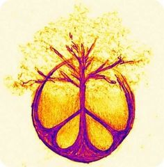 Mother earth. Tree without the peace sign as a possible tattoo