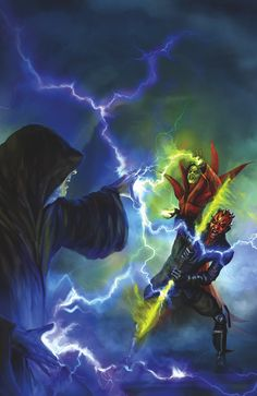 Doom on Dathomir! Star Wars: Darth Maul—Son of Dathomir #4 (of 4) Jeremy Barlow (W), Juan Frigeri (P), Mauro Vargas (I), Wes Dzioba (C), and Chris Scalf (Cover) On sale Aug 20 FC, 40 pages $3.50 Miniseries Count Dooku is possessed by the spirit of Mother Talzin! Darth Maul's Shadow Collective is shattered! The Separatists attack! And Darth Sidious himself enters the fight! • Based on unproduced episodes of the television series The Clone Wars!