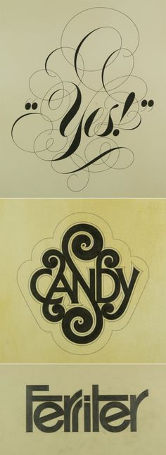 Tom Carnase has created some of the most iconic logotypes for Brooks Brothers, Saks Fifth Avenue and Calvin Klein, just to name a few. He also worked along side Herb Lubalin and helped him create the popular Avant Garde typeface. Some of his lettering work is displayed here, but I recommend that you do a Google search to see all of his great pieces.