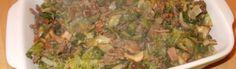 Andijvie-ovenschotel met champignons, spekjes en gehakt