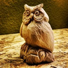 Owl by Christian Franz.- I should make one of these!: