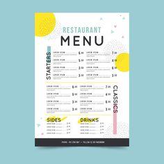 Colorful restaurant menu template Free V...   Free Vector #Freepik #freevector #freefood #freemenu #freetemplate #freerestaurant