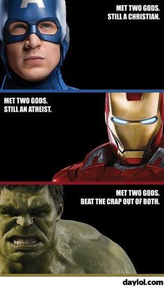 The Avengers and their beliefs - DayLoL.com - Your Daily LoL!