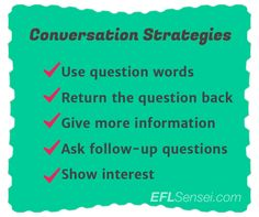 Simple Conversation Strategies