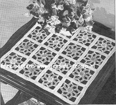 Stained Glass doily free vintage crochet doilies pattern