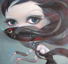 #Yang Na asian art woman fish  Pin me!