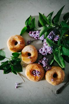 Lilac Sugar Donuts from @michelle22222
