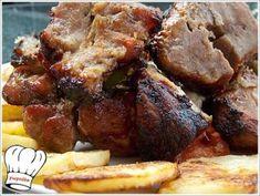 ΚΟΝΤΟΣΟΥΒΛΙ ΧΟΙΡΙΝΟ ΣΟΥΒΛΑΣ ΣΠΕΣΙΑΛ !!! - Νόστιμες συνταγές της Γωγώς! Greek Beauty, Greek Recipes, Pork, Beef, Kale Stir Fry, Ox, Greek Food Recipes, Pork Chops, Steak