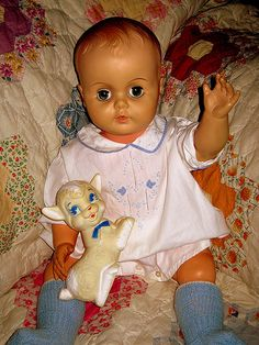 vintage baby doll/ anybody know her name.  i got one of these in the 50's and have her still.