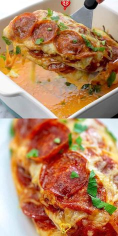 Pizza Stuffed Chicken This chicken recipe is a favorite in our house! Plus it's low carb and keto friendly. My kids ask for it weekly. #chicken #lowcarb #keto<br> Crock Pot Recipes, Low Carb Chicken Recipes, Keto Recipes, Cooking Recipes, Healthy Recipes, Keto Chicken, Chicken Bites, Butter Chicken, Garlic Butter