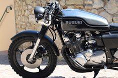Suzuki By 21 Grammes Motorcycles Suzuki Cafe Racer, Cafe Racer Motorcycle, Moto Bike, Cafe Racers, Honda Motorcycles, Paint Schemes, Vintage Racing, Custom Bikes, Bobber
