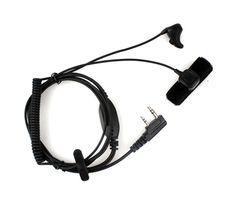 Intercom Zubehör Neue Mode Headset K Stecker Ohrstöpsel Portable Kopfhörer Kunststoff Walkie Talkie Kopfhörer Camping Schwarz Für Uv5r