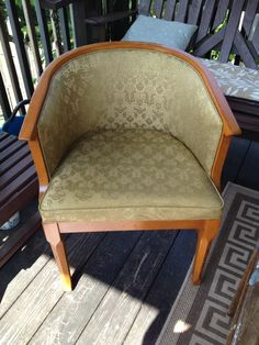 Chair from East Texas. $5                                This is after I refinished it.   Summer of 2014