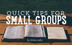 Brian Aaby shares some practical tips for your small group leaders on the YS Blog.