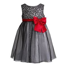 Youngland Flower Bow Dress - Girls 4-6x