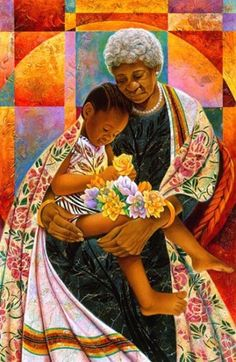 """Grandma's Hands"" by Keith Mallett.  A truly lovely art print.  This one is available in our Motherly Love Art Prints and Posters Collection."