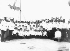The Imperial Family aboard a battle cruiser: 1916